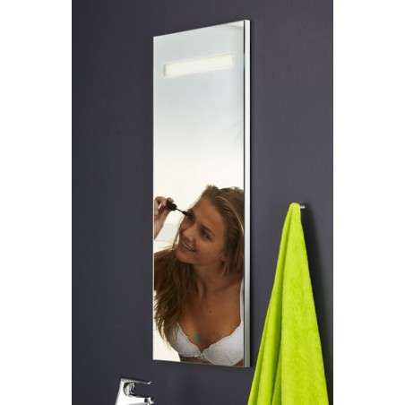Topdesign LED toiletspejl 100x42cm - m/antidug