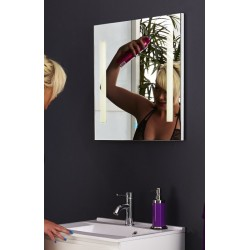 Topdesign LED toiletspejl 60x60cm - m/antidug