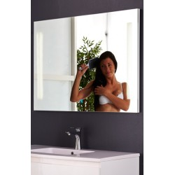 Topdesign LED toiletspejl 100x70cm