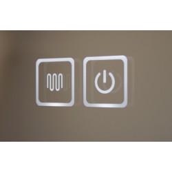 Topdesign LED toiletspejl 100x70cm - m/antidug