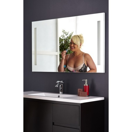 Topdesign LED toiletspejl 120x70cm - m/antidug