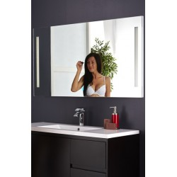 Topdesign LED toiletspejl 150x70cm - m/antidug