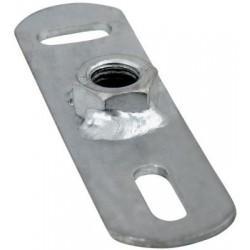 Walraven grundflange 1/2inch. Elforzinket. 80x25mm med påsvejset muffe
