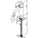 Damixa Silhouet håndvaskarmatur, medium, u/bundventil - Messing