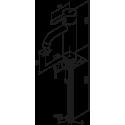 Damixa Silhouet håndvaskarmatur, medium, u/bundventil - Matsort