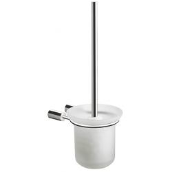 Pressalit toiletbørste i poleret rustfri stål - m/glasskål