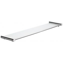 Pressalit glashylde i poleret rustfri stål 58,8x13,5 - matteret glas