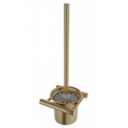 Primy Steel Toiletbørste - m/vægholder - Messing/sand
