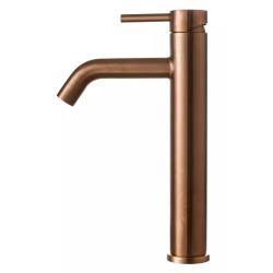 Primy Steel Wave håndvaskbatteri - Høj model - Kobber/amber