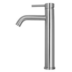 Primy Steel Wave håndvaskbatteri - Høj model - Rustfrit stål