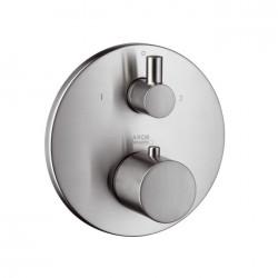 Hansgrohe XX UNO termostat m/afsp.+omsk. Steel-Opt