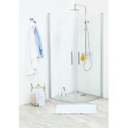 Noro Fix Trend brusehjørne round 80 x 90 cm, klar glas