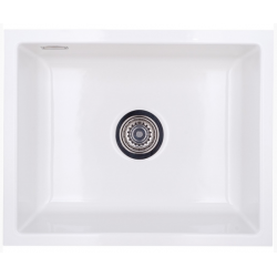 Lavabo Mera 50U - 55,1 x 44,1 x 20 cm - Hvid keramik / krom