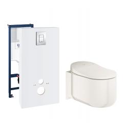 Toiletpakke m/Grohe cisterne, grohe dusch toilet m/sæde og krom trykknap