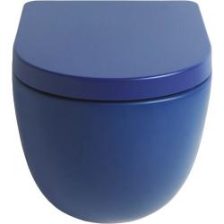 Lavabo File 2.0 hængeskål uden skyllekant - Safirblå