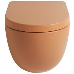 Lavabo File 2.0 hængeskål uden skyllekant - Terracotta
