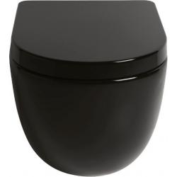 Lavabo File 2.0 hængeskål uden skyllekant - Blank sort