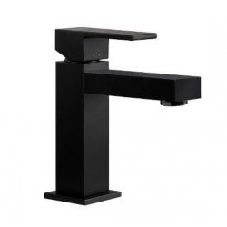 Cassøe Newform ERGO-Q håndvaskarmatur, u/bundventil - Mat sort