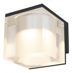 Cassøe Vetro spejllampe 5W LED - Klar glas - Sort