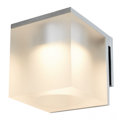 Cassøe Vetro spejllampe 5W LED - Frosted glas - Krom
