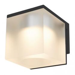 Cassøe Vetro spejllampe 5W LED - Frosted glas - Sort