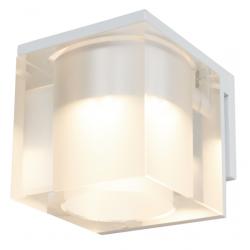 Cassøe Vetro spejllampe 5W LED - Klar glas - Hvid