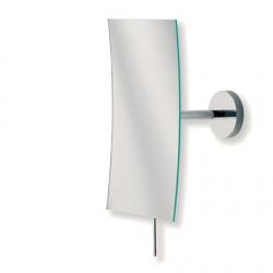 Cassøe  væghængt kosmetikspejl firkantet, med 3xforstørrelse, stor model - Krom