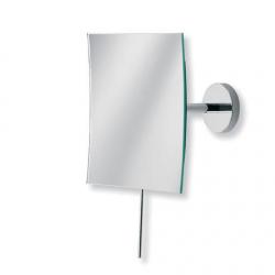 Cassøe  væghængt kosmetikspejl firkantet, med 3xforstørrelse, lille model - Krom