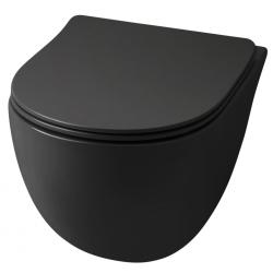 Lavabo File 2.0 hængeskål uden skyllekant - Mat sort