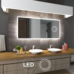 Spejl med LED lys og integreret kosmetikspejl