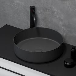 Håndvask i mat sort - ø40 cm
