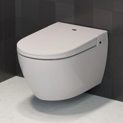 Elektrisk dusch toilet med varme i sædet, lady dusch, og lys
