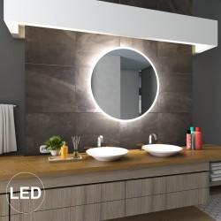 Rundt LED-spejl, med front...