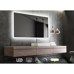 Firkantet LED-spejl V.2 m/...