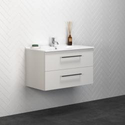 Dansani Luna baderumsmøbel i mat hvid med Kantate håndvask