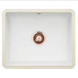 Lavabo Mataro køkkenvask til underlimning. vask i keramik og kobber afløb