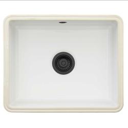 Lavabo Mataro køkkenvask til underlimning. vask i keramik og sort afløb