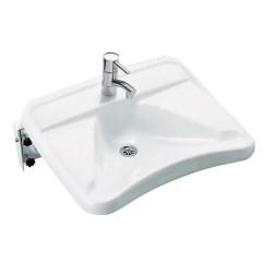 Ifø håndvask 2642 hvid 660x580 mm med bundventil og faste bæringer
