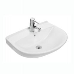 Ifø Cera håndvask med hanehul og overløb i hvid 57 x 44 cm