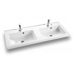 Dansani Vask Allegro 120 cm D marmor hvid