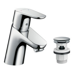 Hansgrohe Focus 70 m/Push-open krom