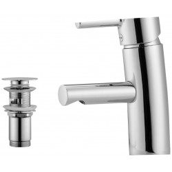 Mora MMIX håndvaskarmatur, krom, m/push-up bundventil