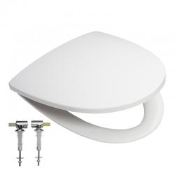 Ifø sign sæde med låg i hvid plast med quick release, soft close og fast beslag