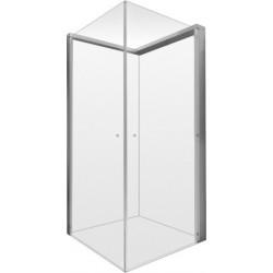 Duravit OpenSpace bruseafskærmning 785x785m, transparent spejlglas, armatur højre