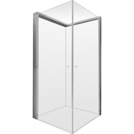 Duravit OpenSpace bruseafskærmning 885x885m, transparent spejlglas, armatur venstre