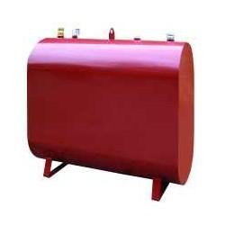 Oval  olietank 1200 l  Ud Rød